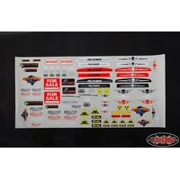 RC4WD Z-L0031 Generic Scale Body Decal Sheet