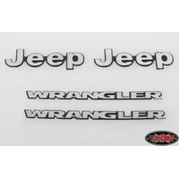 RC4WD 1/10 Metal Logo for Tamiya CC01 Wrangler VVV-C0060