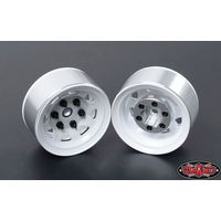 RC4WD Stamped Steel Single 1.55 Stock White Beadlock...