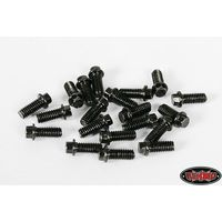 RC4WD Z-S0008 RC4WD Miniature Scale Hex Bolts (M2.5 x 6mm) (Black)