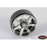 RC4WD Dick Cepek Gun Metal 7 2.2 Internal Beadlock Wheels...