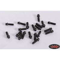RC4WD Miniature Scale Hex Bolts (M2 x 6mm) (Black) Z-S1198