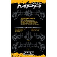 MST 210568 MPA Axle set (1 car kit need 2 set)